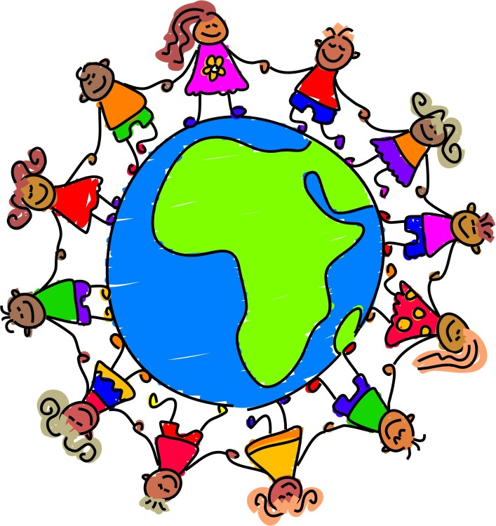 clip art youth around the globe