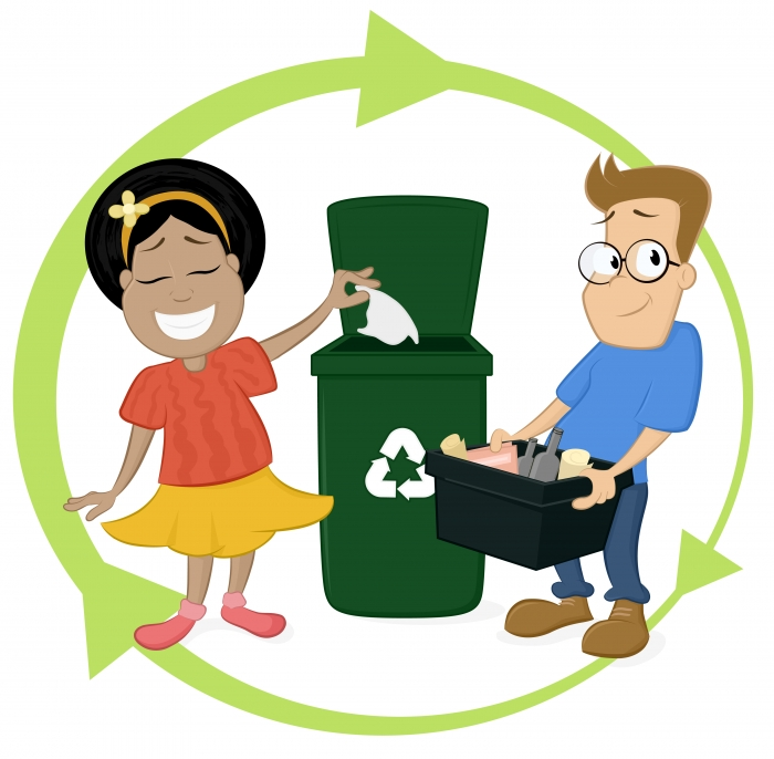 clip art youth recycling