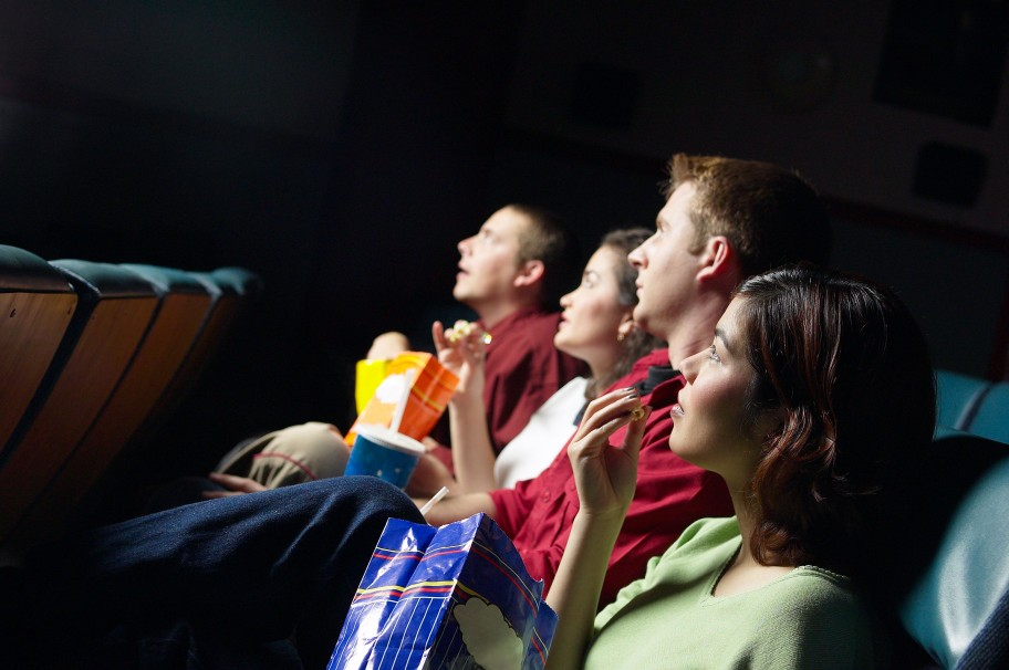 teens watching movie