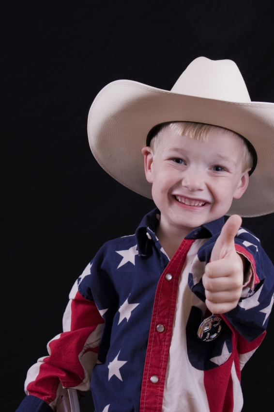 boy dressed as cowboy