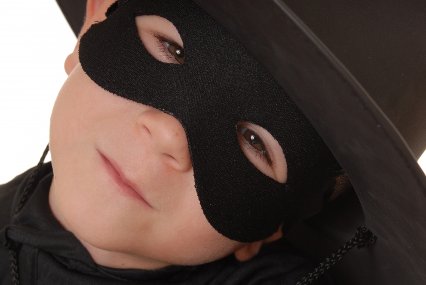 youth dressed as zorro